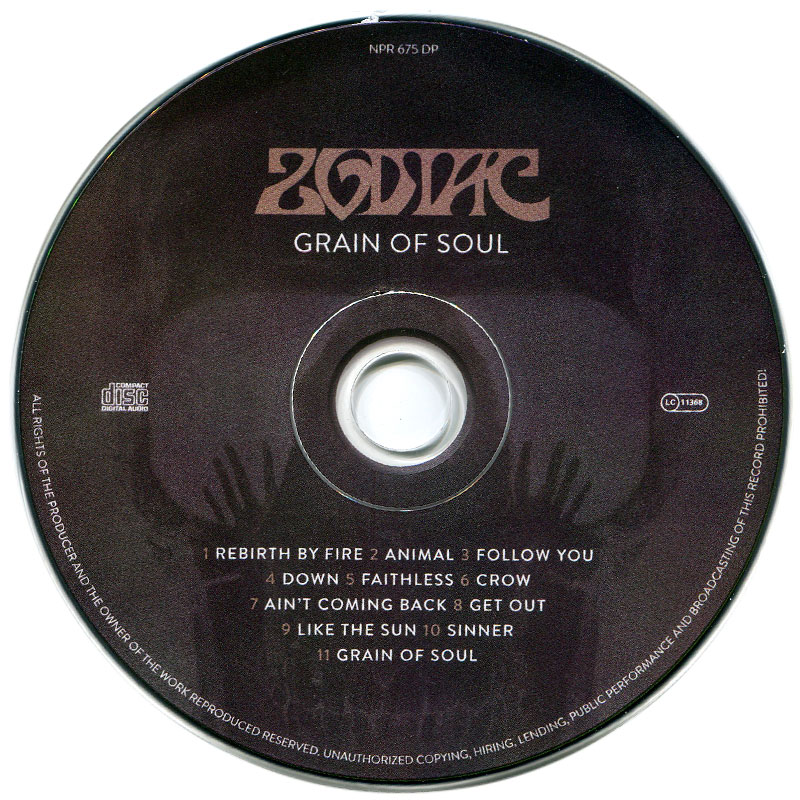 Zodiac - Grain of Soul (2016) CD