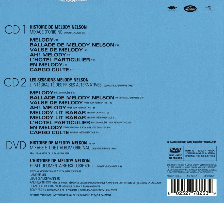Serge Gainsbourg - Histoire de Melody Nelson (1971) Back