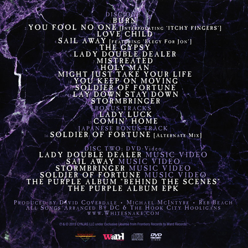 Whitesnake - The Purple Album (2015) Back