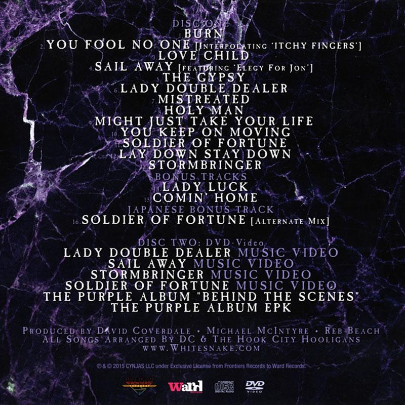 Whitesnake the purple album (2015). Слушать онлайн. Заказать flac.