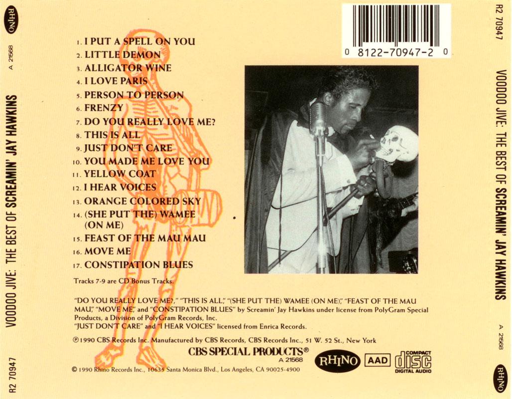 Screamin' Jay Hawkins – Voodoo Jive: The Best Of Screamin' Jay Hawkins (1990) Back