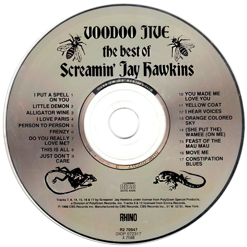 Screamin' Jay Hawkins – Voodoo Jive: The Best Of Screamin' Jay Hawkins (1990) CD