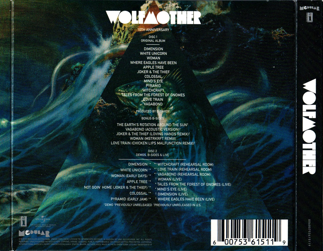 Wolfmother (2015 Deluxe Edition) Back