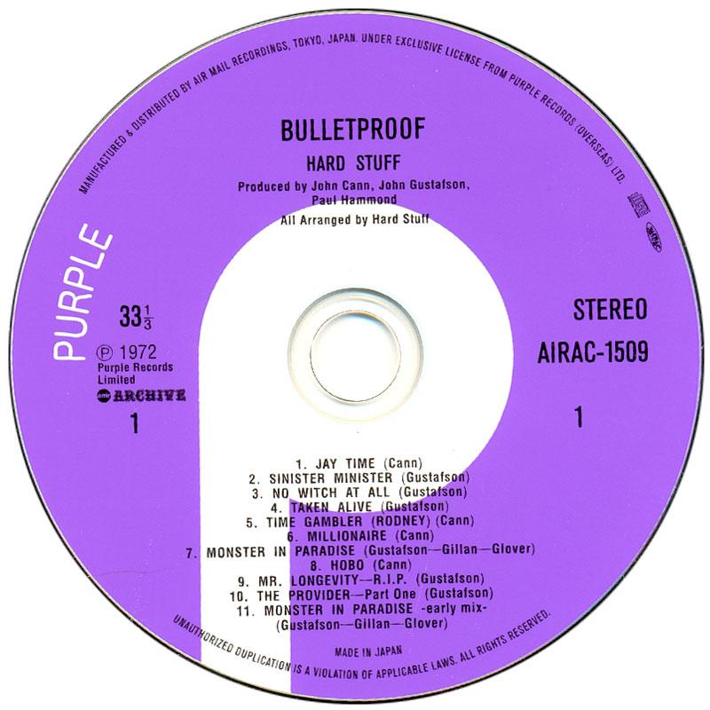 Hard Stuff - Bulletproof (1972) CD