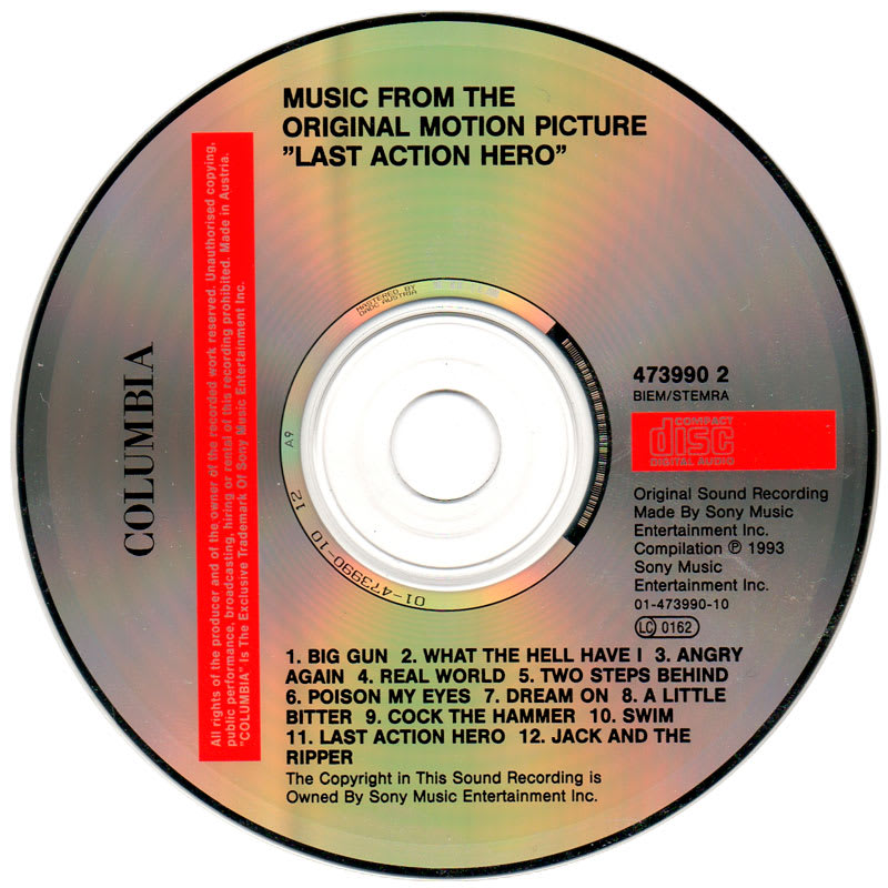 Various 1993 - Last Action Hero (Music From The Original Motion Picture) CD