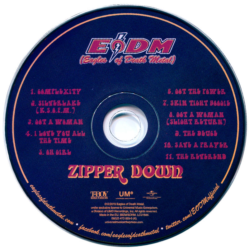 EODM (Eagles Of Death Metal) - Zipper Down (2015) CD