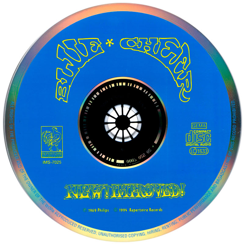 Blue Cheer ‎– New! Improved! (1969) CD
