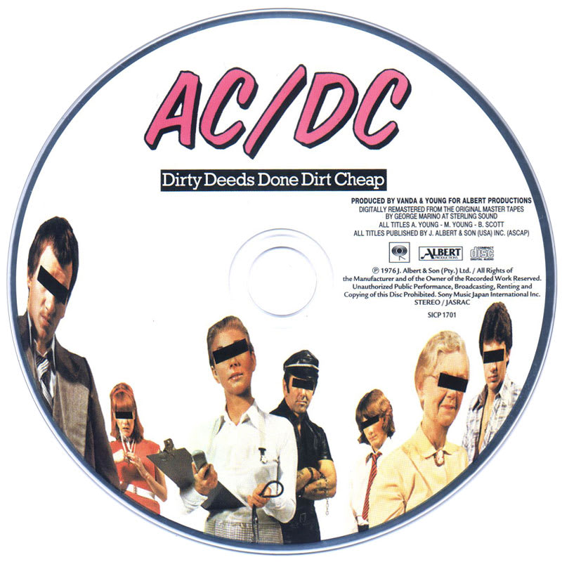 AC/DC – Dirty Deeds Done Dirt Cheap (1976) CD