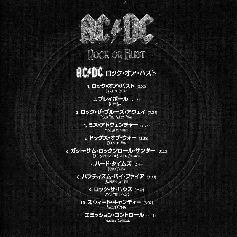 AC/DC – Rock or Bust (2014) Booklet