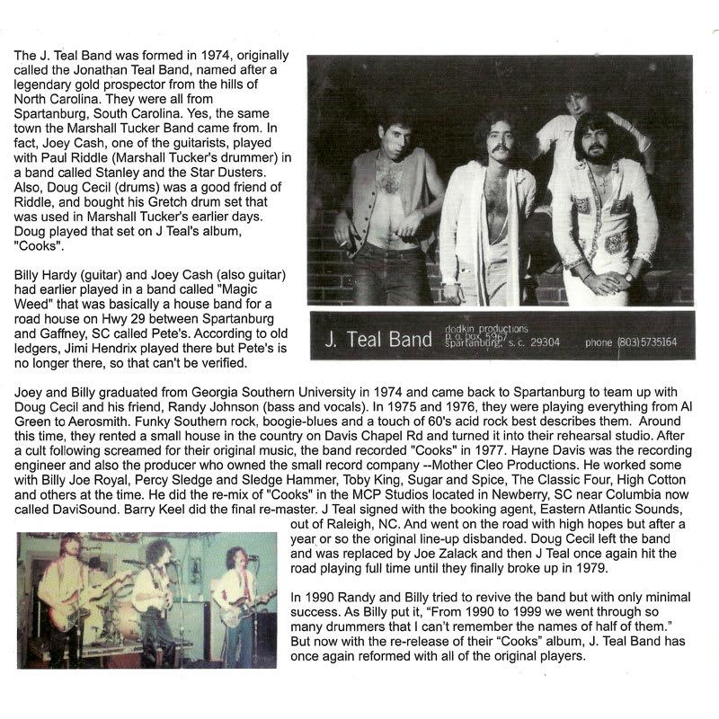 J. Teal Band – Cooks (1977) Inside