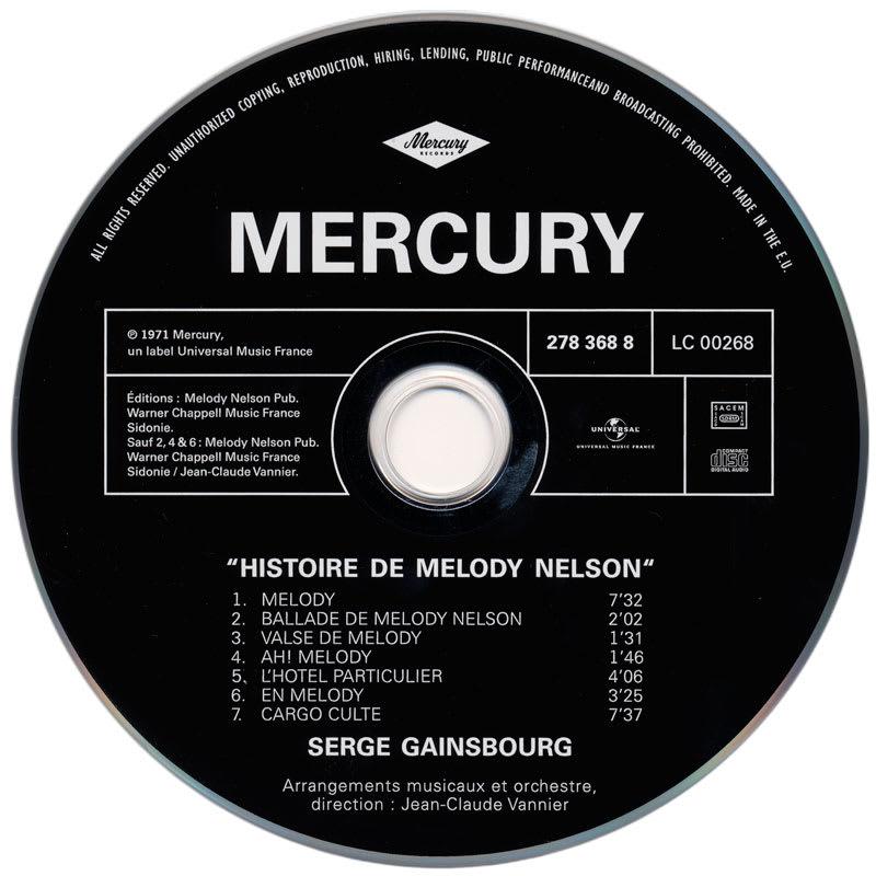 Serge Gainsbourg - Histoire de Melody Nelson (1971) CD 1