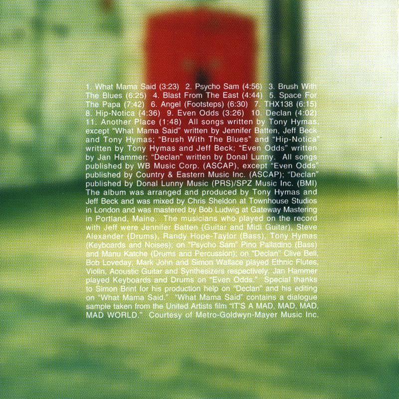 Jeff Beck – Who Else! (1999) Booklet