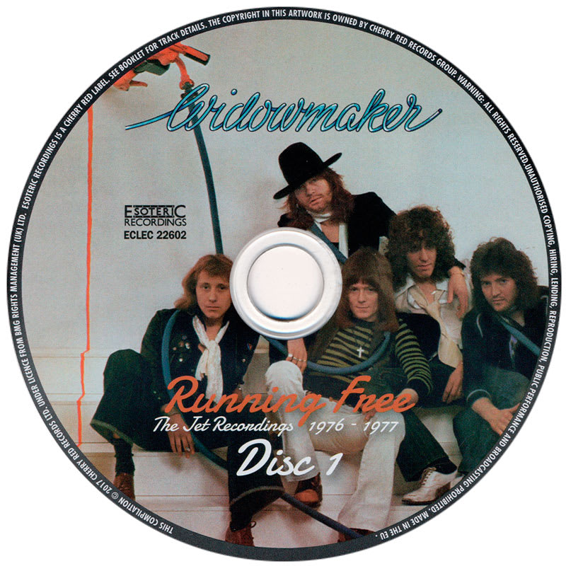 Widowmaker – Running Free (The Jet Recordings 1976 - 1977) CD1