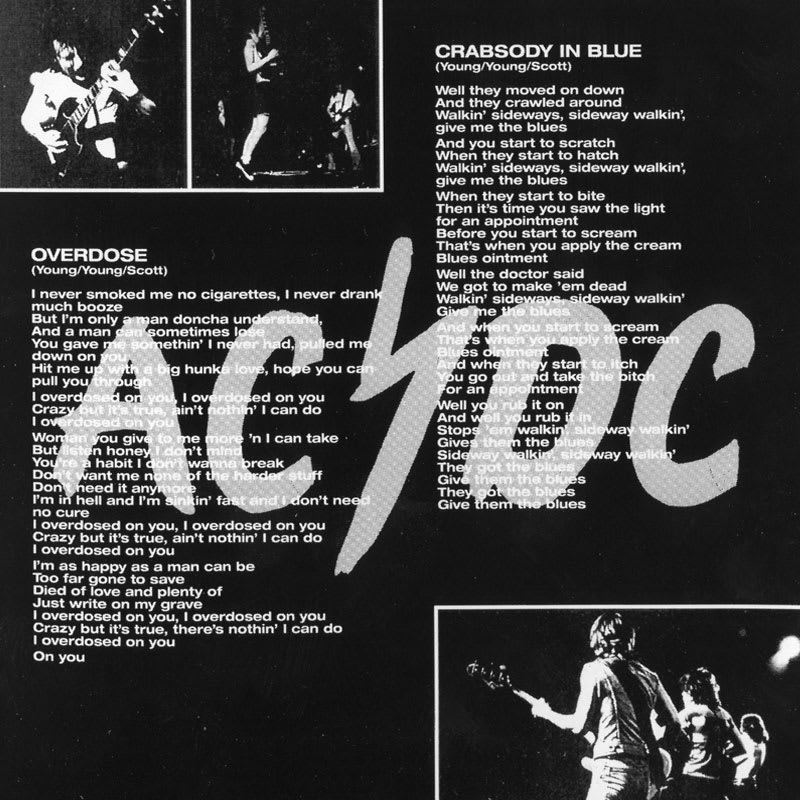 AC/DC - Let There Be Rock (1977) Inside 2