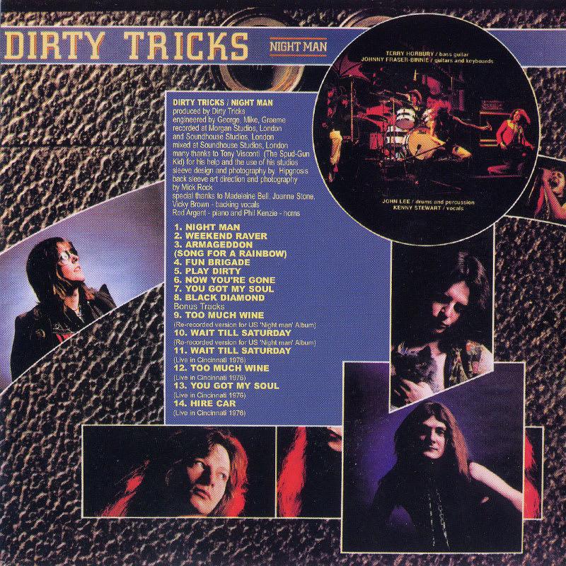 Dirty Tricks - Night Man (1976) Back