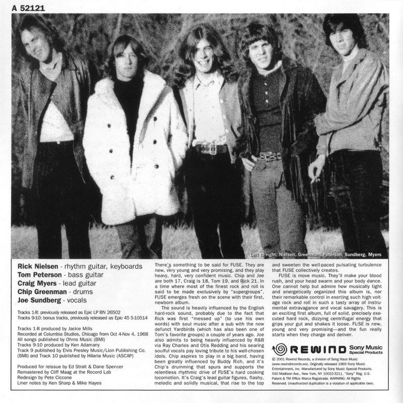 Fuse – Fuse [1970] Booklet