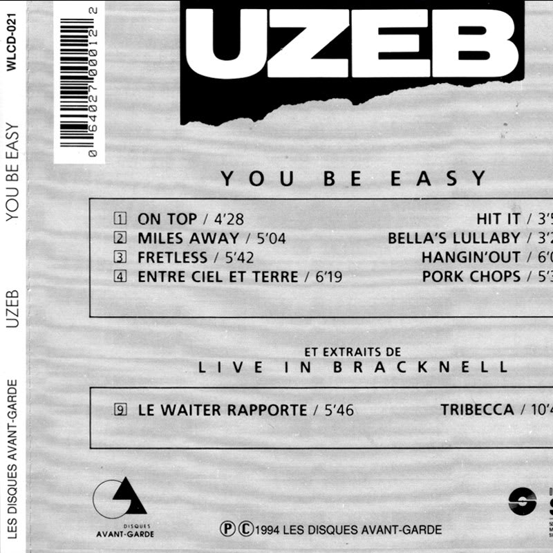 UZEB - You Be Easy (1984) Back