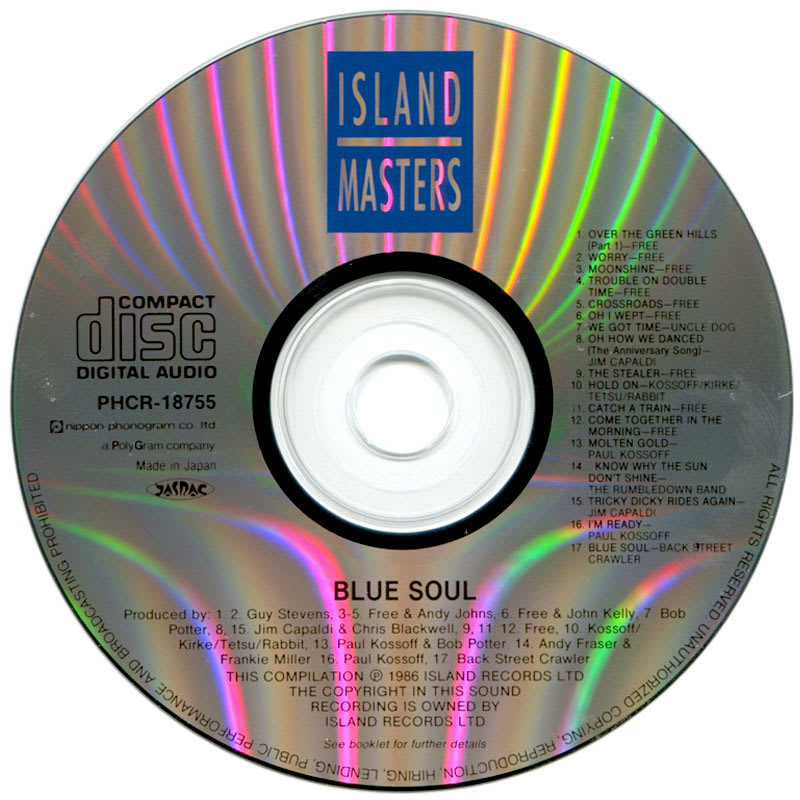 Paul Kossoff - Blue Soul (1986) CD