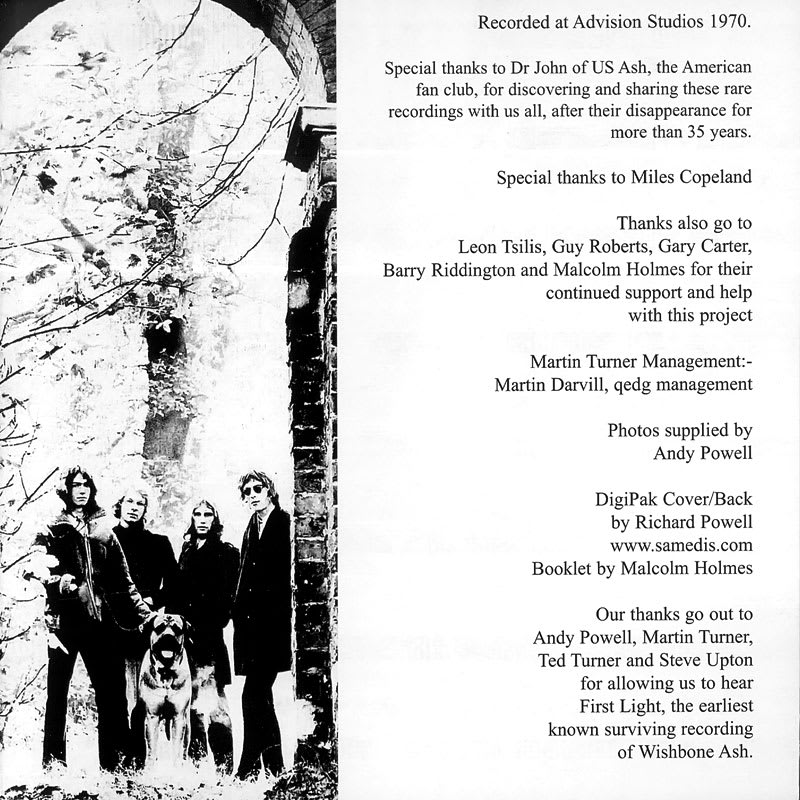 Wishbone Ash – First Light (1970) Booklet
