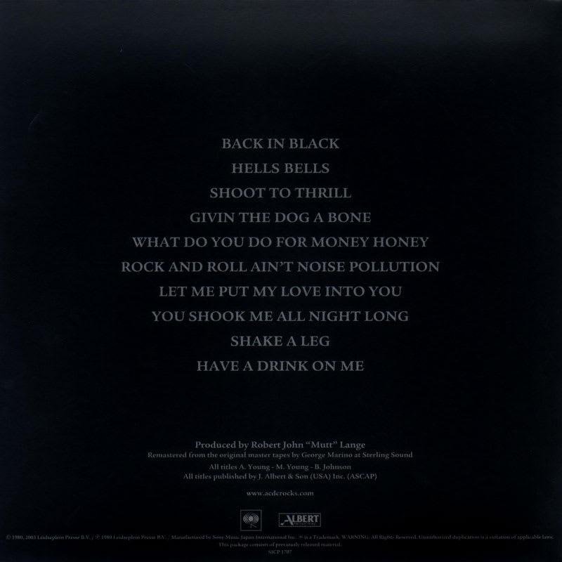 AC/DC - Back In Black (1980) Back