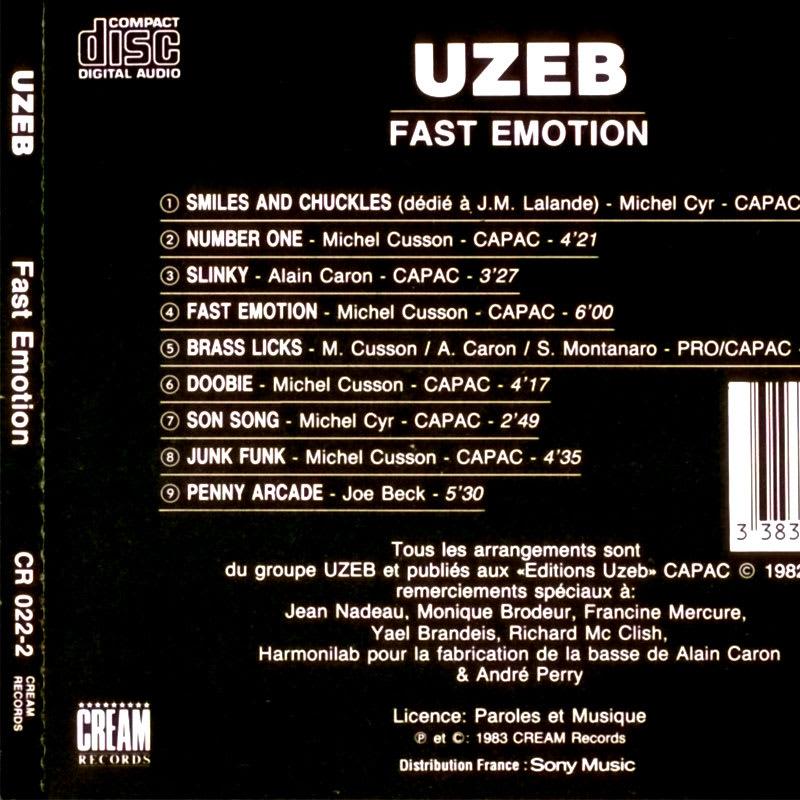 «Fast Emotion» by Uzeb [1983] Back