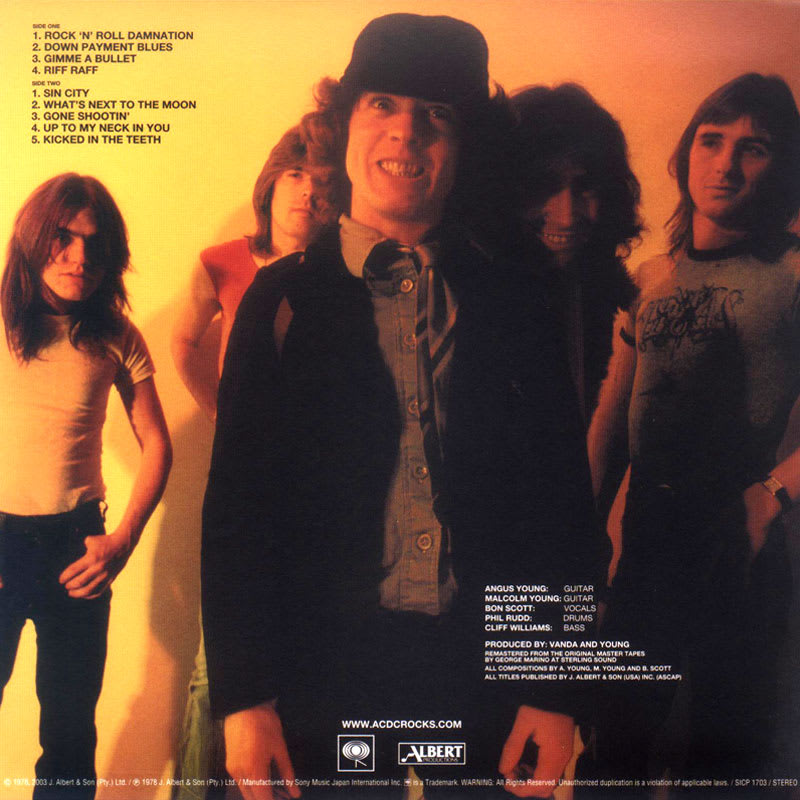 AC/DC - Powerage (1978) Back