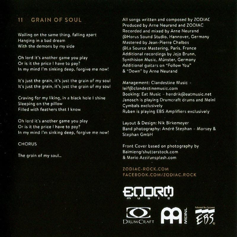 Zodiac - Grain of Soul (2016) Booklet 02