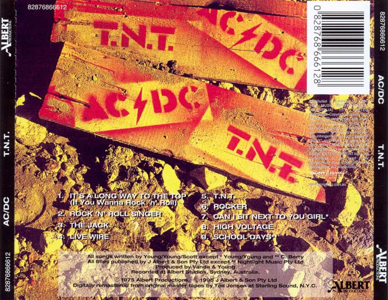 AC/DC - T.N.T. (1975) Back