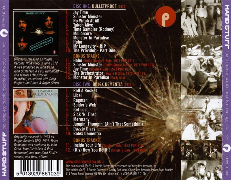 Hard Stuff - The Complete Purple Records Anthology 1971-1973 (2017) Back