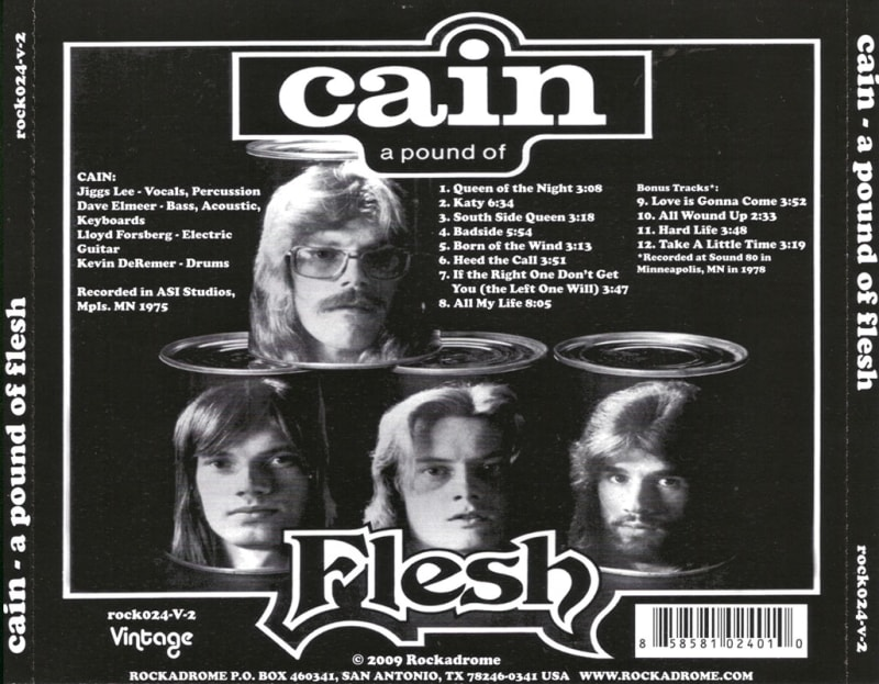 Cain - A Pound Of Flesh (1975) Back