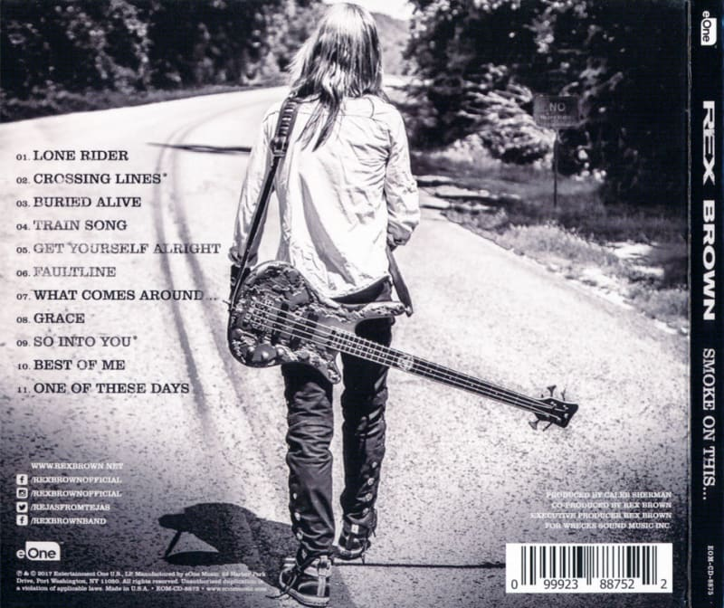 Rex Brown – Smoke On This... (2017) Back