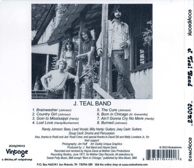J. Teal Band – Cooks (1977) Back