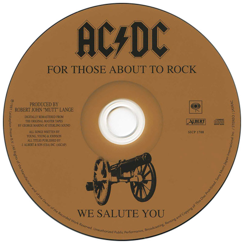AC/DC – For Those About To Rock (1981) CD