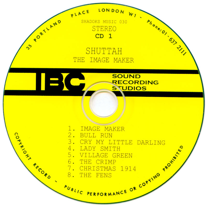 Shuttah - The Image Maker Vol 1 & 2 (1971) CD