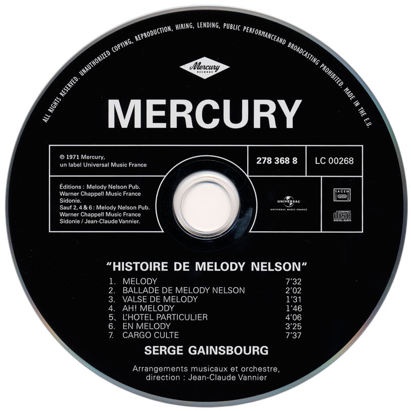 Serge Gainsbourg - Histoire de Melody Nelson (1971) CD 1
