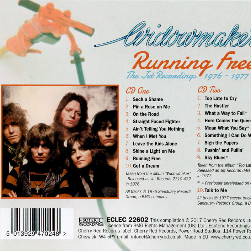 Widowmaker – Running Free (The Jet Recordings 1976 - 1977) Back