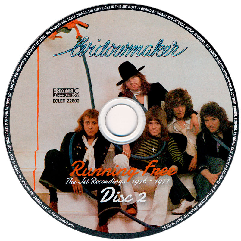Widowmaker – Running Free (The Jet Recordings 1976 - 1977) CD2