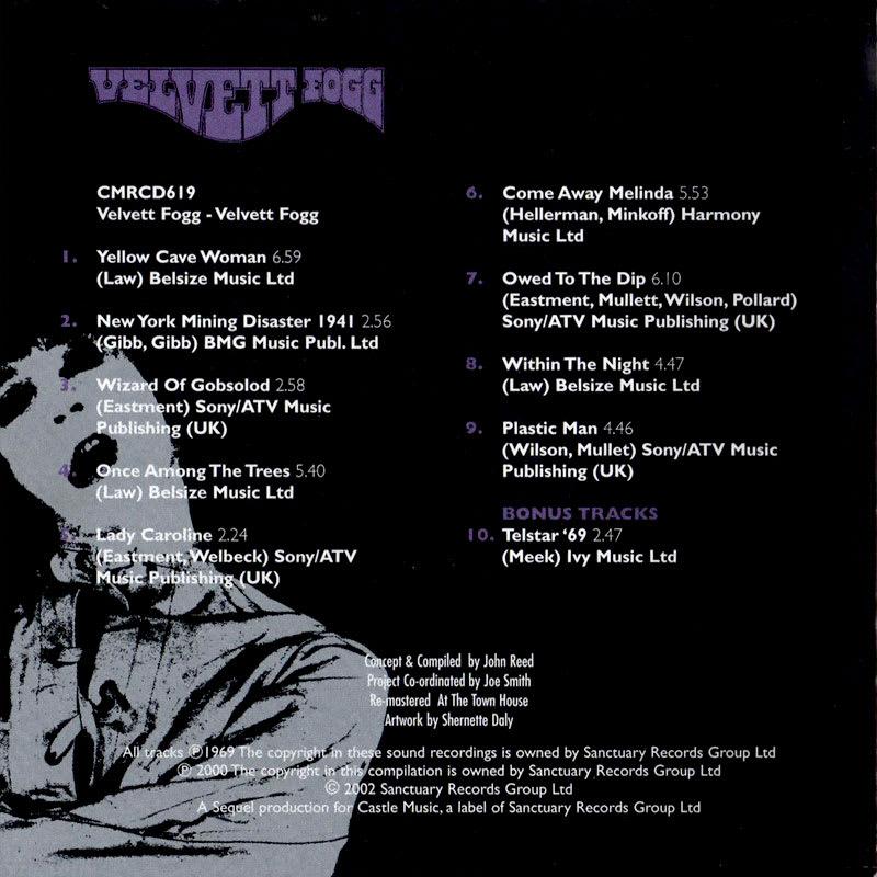 Velvett Fogg - Velvett Fogg (1969) Booklet