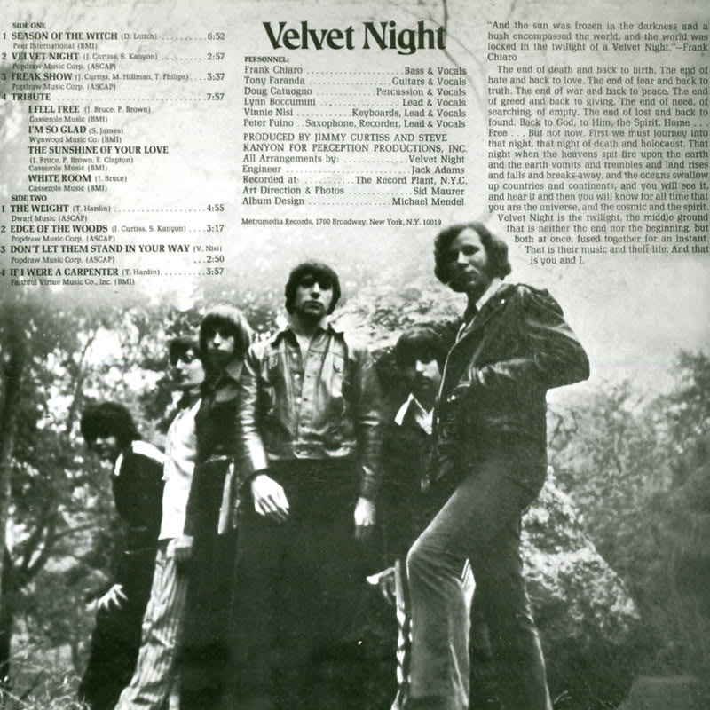 Velvet Night - Velvet Night (1970) Back