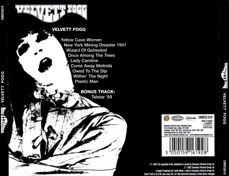 Velvett Fogg - Velvett Fogg (1969) Back