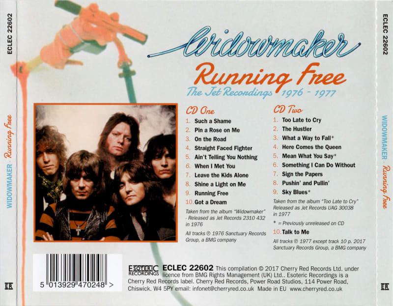 Widowmaker – Running Free (The Jet Recordings 1976 - 1977) Back
