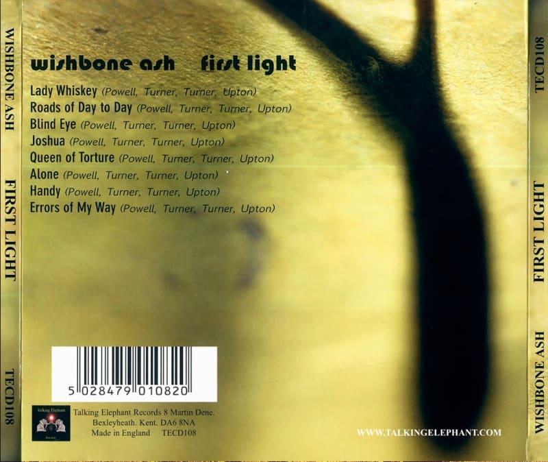 Wishbone Ash – First Light (1970) Back