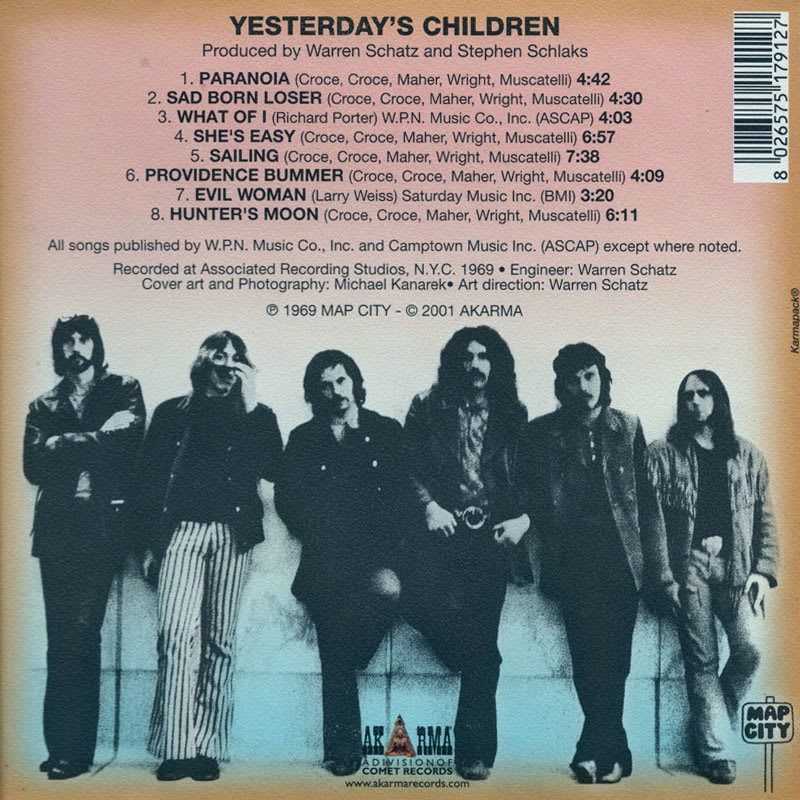 Yesterday's Children - Yesterday's Children (1969) Back