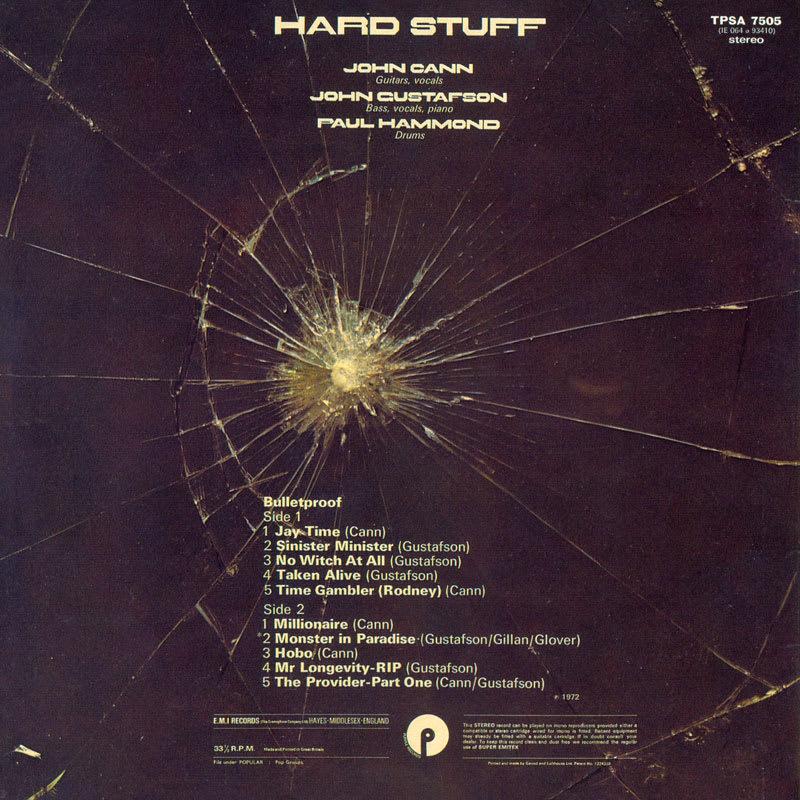 Hard Stuff - Bulletproof (1972) Back