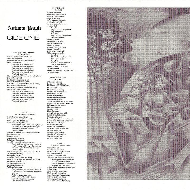 Autumn People – Autumn People (1976) Booklet 01