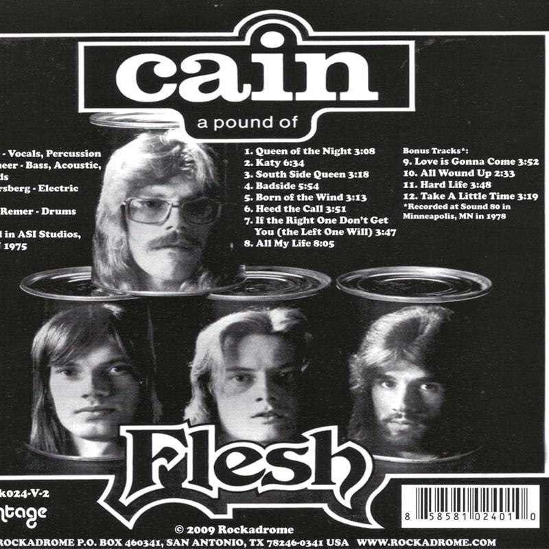 Cain - A Pound Of Flesh (1975) Back