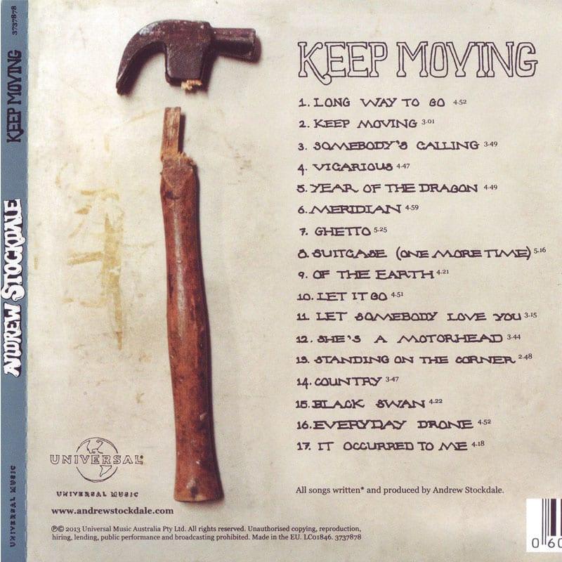 Andrew Stockdale - Keep Moving (2013) Back