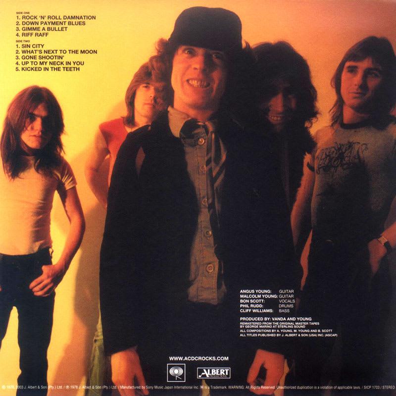 AC/DC - Powerage (1978) Back