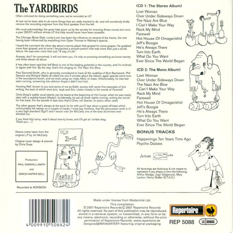 The Yardbirds – Roger The Engineer (1966) Back