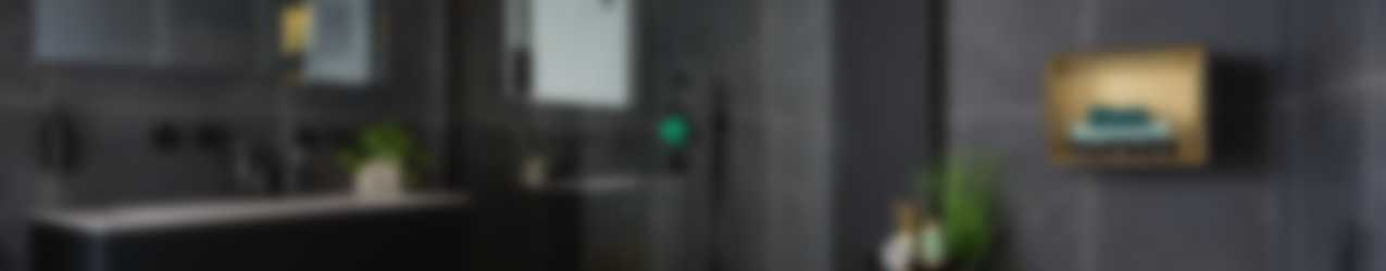 Baderie - zwarte badkamer met KS spanplafond